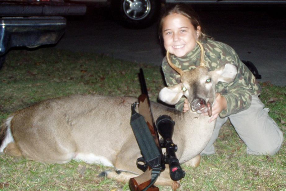 Kaylee Weaver, 9 - 2nd Deer - 1st With a Rifle .270
