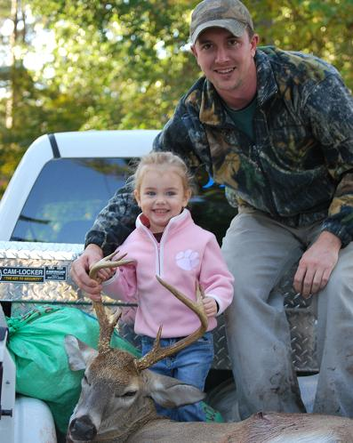 John & Reagan Dickerson 165lbs 8-point Florence Co.