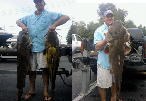Stan Pierce 8-14-10 1st Place Big Fish 50.9 & Total Weight 105.4 PD Catmasters