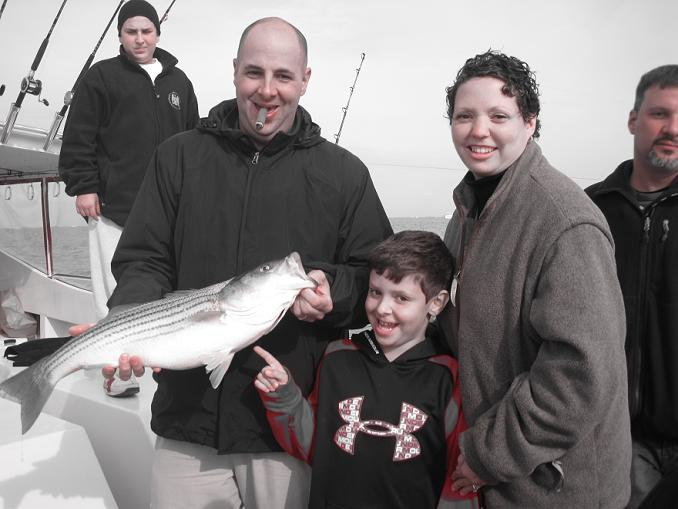 Jerry, Tammy, & TJ Hamberis -- Chesapeake bay