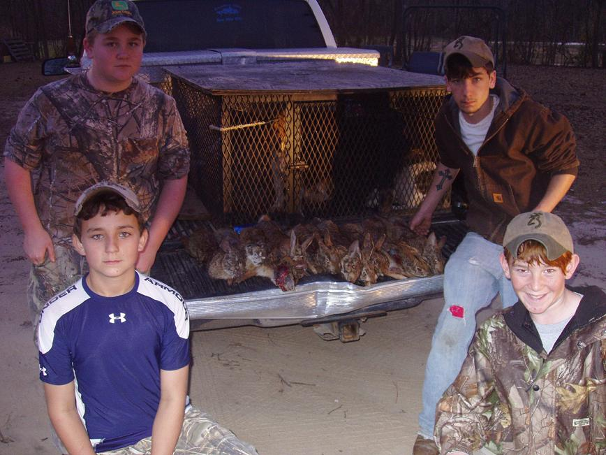Youth Rabbit Hunt -11 Rabbits - 03/01/08 - Submitted by Michael Cantey