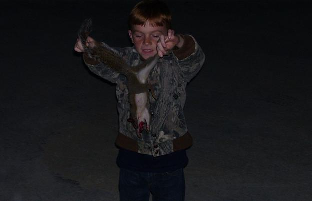 Evan McKenzie -- 1st squirrel